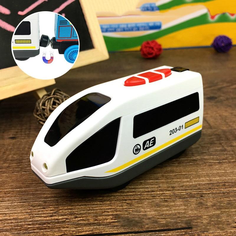 Gut Ausgebildete Beleuchtung Pfeife Magnetische Elektrische Kleine Lokomotive Spielzeug Puddle Jumper Track Auto Kinder Spielzeug Auf Dem Internationalen Markt Hohes Ansehen GenießEn