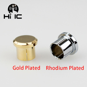 Image 3 - 2pcs Protective Cover Gilded Rhodium Plated Covers Dust Cap Shielded Anti oxidation for RCA  Socket Connector