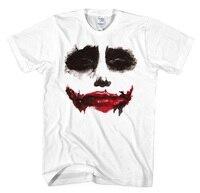 [XHTWCY] New 2019 Batman The Dark Knight Joker Print Cotton T Shirts O Neck Men Cosplay Costume