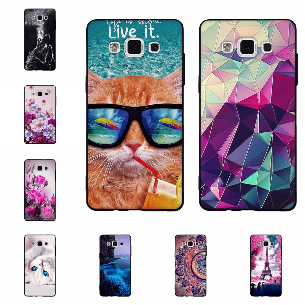 Case For Samsung Galaxy A5 2015 3D Cartoon Patterned Phone Cover For Samsung A5 A500H A500F Ultra thin Soft TPU Silicone Capa image