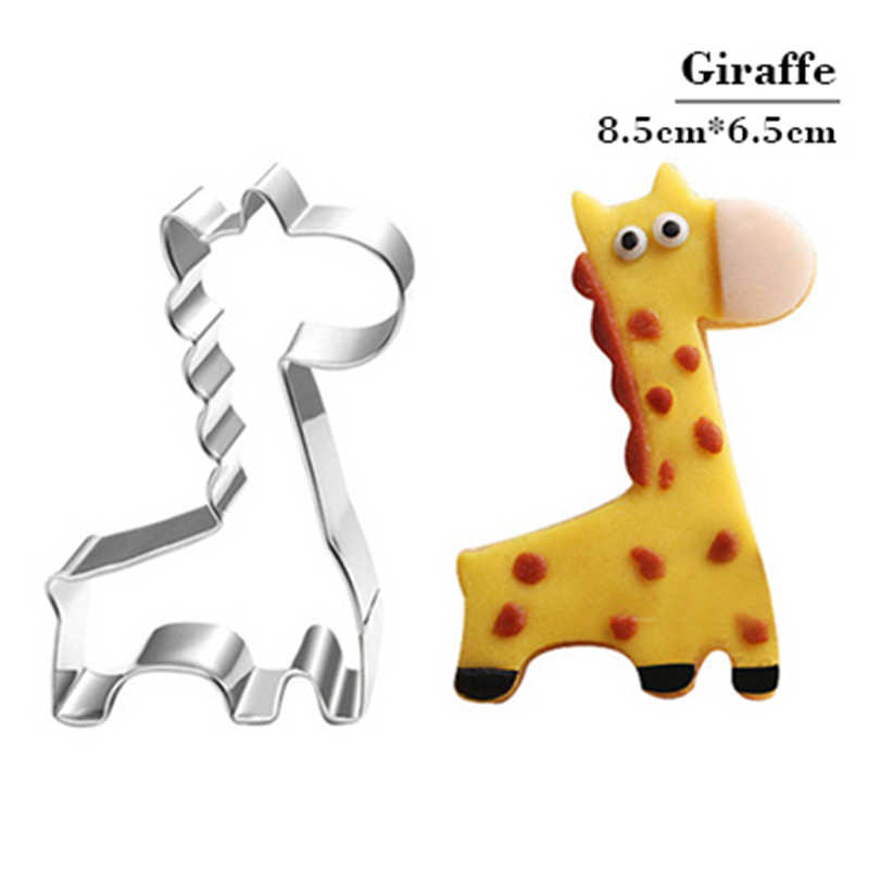 Molde quente do biscoito da forma do girafa bakeware fondant molde do bolo diy açúcar ofício 3d pastelaria cortadores de biscoito ferramentas de cozimento biscoitos selo