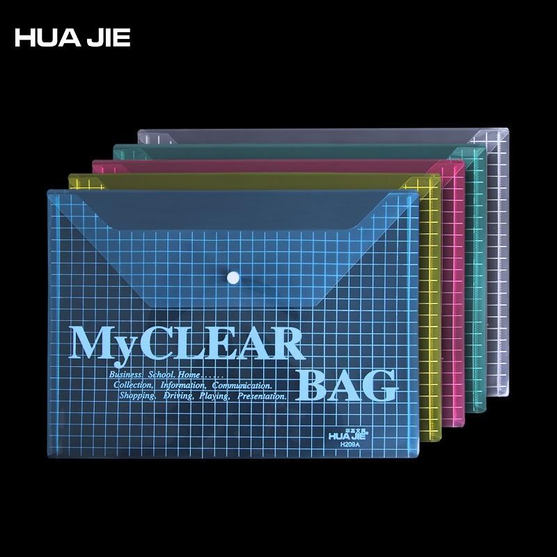 12Pcs/lot Transparent A4 Document Bag Paper Storage Bag Pencil Bag Book Organizer Filing Product Office School Supplies