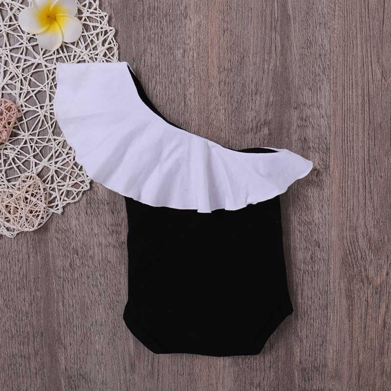 2019 Детская летняя одежда для девочек милый черный Боди Одежда для новорожденных Одежда для малышей девочек хлопок тела младенца боди близнецов 0-18 м