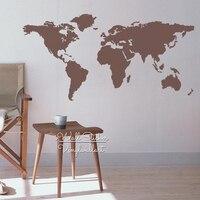 World Map Wall Sticker Modern Map Wall Decals DIY Easy Wall Art Removable Wall Decoration Modern