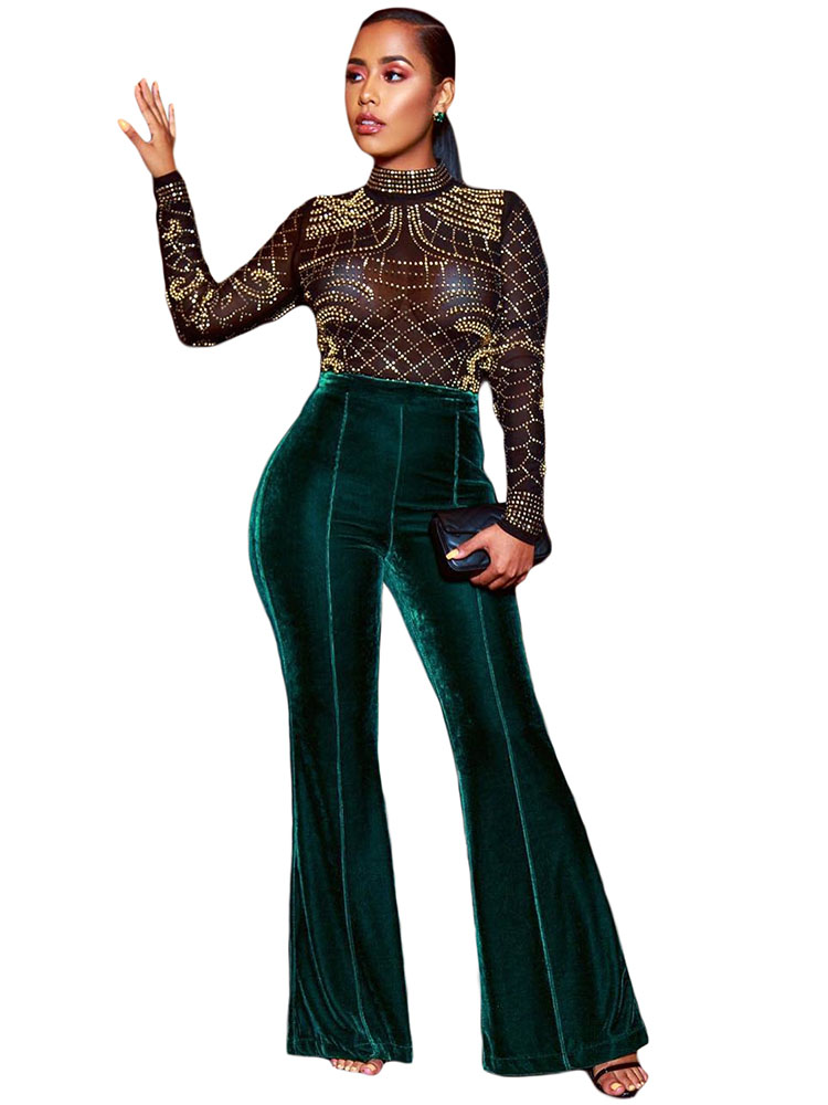Las 10 Mejores Pantalon Palazzo Verde List And Get Free Shipping 3nef5kc9