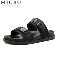 MIUBU Men Slippers Outdoor Fashion Summer Slippers Beach Slides  male slides Flip Flops Slip On men's sandals