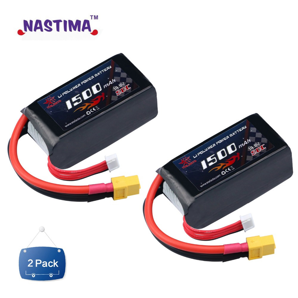 Melasta LiPo Battery Pack 1500mAh 50C 4S 14.8V with XT60 Plug for RC Boat Heli Airplane UAV Drone FPV image