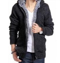 Sullivan Winter Hooded sweater with double zipper closure and turn-down collar Cotton jacket