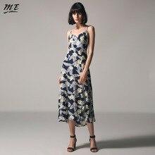ME 2017 Women Summer Sexy Beach Spaghetti Strap Maxi Dress Print Bohemian Lace Up Backless V-neck Split Dress Female Vestidos