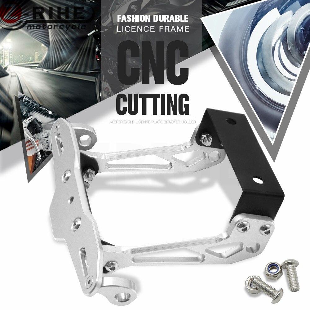Motorbike Adjustable Angle Aluminum License Number Plate Holder Bracket For YAMAHA MT-07 MT-09 MT 07 09 MT07 MT09 Tracer FZ1 FZ8