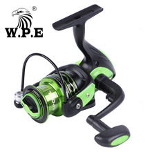W.P.E GreenLight3 Series 3000-6000 Freshwater Spinning Reel with 3+1 Ball Bearings Carp Fishing Wheel Full Metal Spinning Wheel daiwa mission cs 5 3 1 spinning fishing reel 2000s 2500s 3000s 4000s 4bb saltwater freshwater carp feeder wheel with air rotor