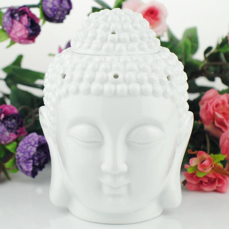 Dropshipping. exclusivo. remitente de cerámica de Quemador de aceite Cabeza de Buda Aroma esencial difusor de aceite de incienso indio Buda tibetano