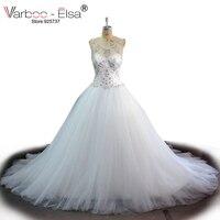 Vestido De Novia Vintage White Wedding Dress 2016 See Through Sexy Wedding Dress Crystal Beading Wedding