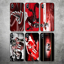 Yinuoda Atlanta Falcons Phone Case NFL Julio Jones For iPhone Shell DIY Picture Soft TPU Cover X XR XS MAX 7 8 7plus 6 6S 5S SE