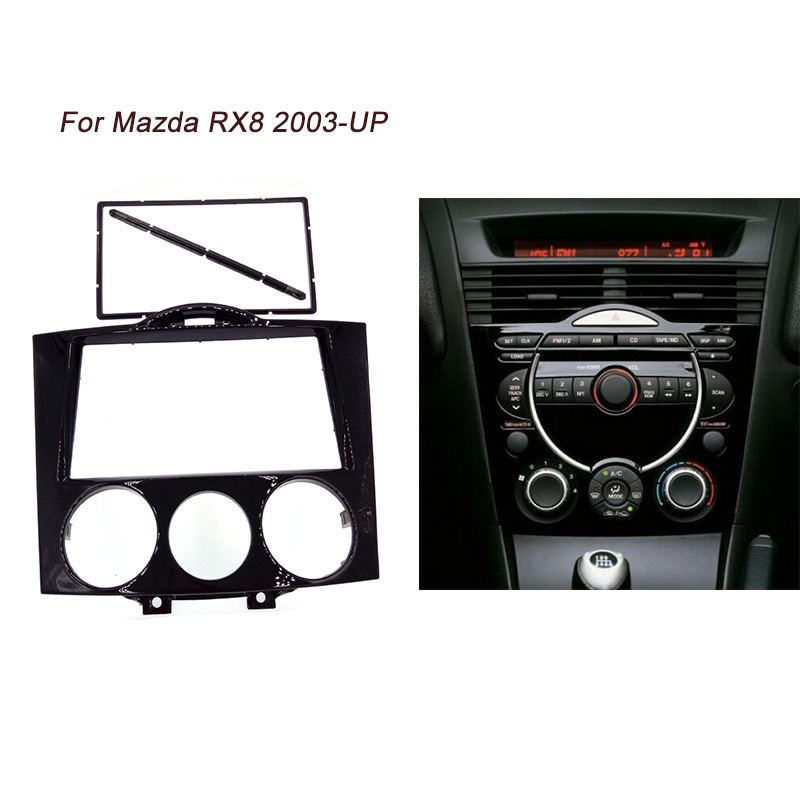ITYAGUY Double Din Fascia For MAZDA RX8 RX-8 Radio Refitting In-Dash CD DVD Stereo Audio Panel Mount Install Dash Kit Face Plate rx8 double din