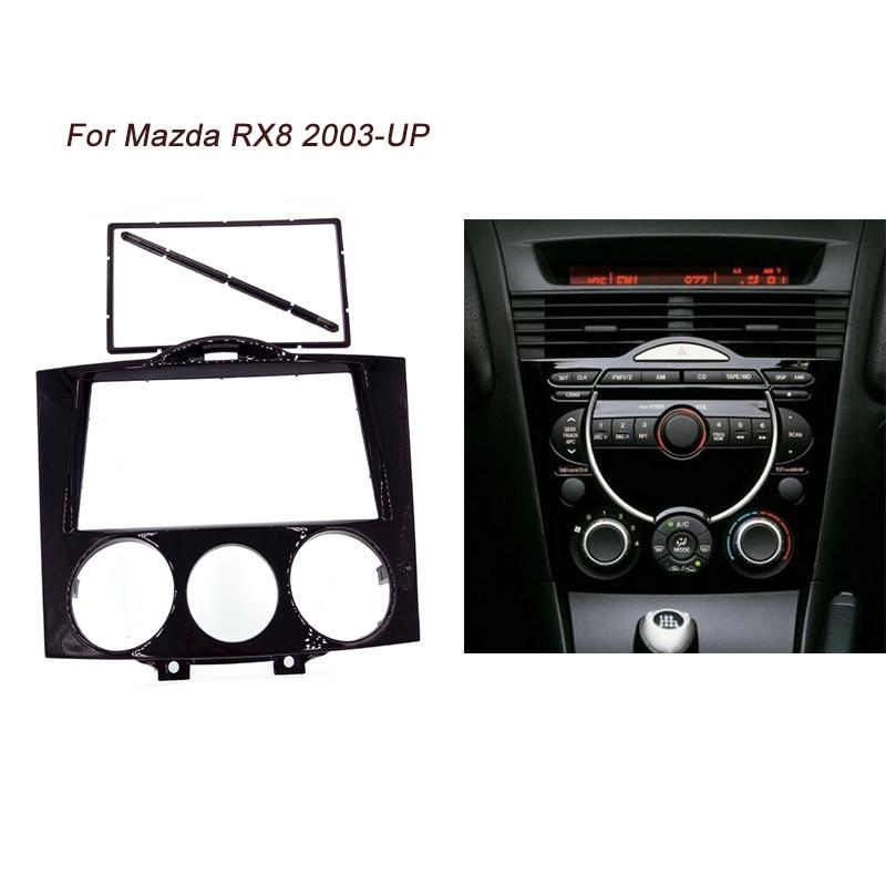 ITYAGUY Double Din Fascia Pour MAZDA RX8 RX-8 Radio Repose Au Tableau de Bord CD DVD Stéréo Panneau De Montage Audio Installer Dash Kit Visage Plaque