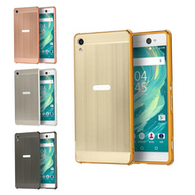 Brushed Hard Case for Sony XA Ultra Metal Frame with Back Cover Case for Sony Xperia XA Ultra F3211 F3212 F3216 Phone Cases стоимость