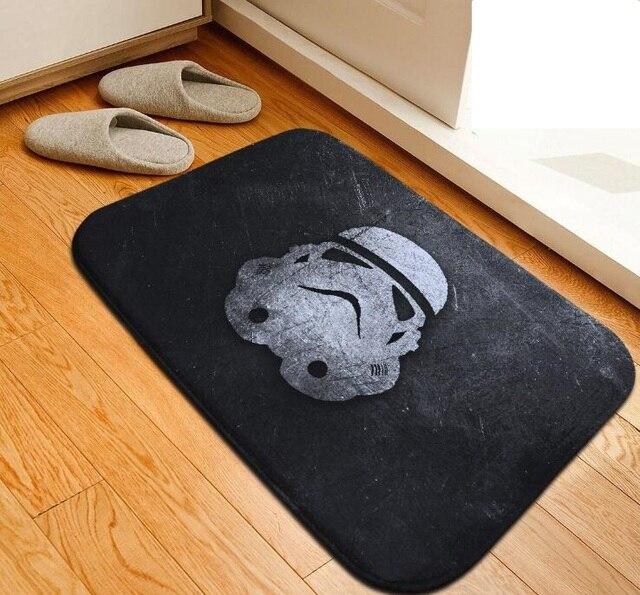 Tappetino Da Bagno di Star Wars personalizzato Fai Da Te Stampato Tappetino Wc Flanella Tappeto Assorbente Da Bagno Doccia Mat Tappeti tapete para banheiro