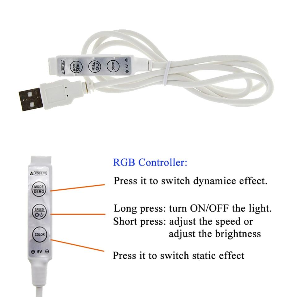 USB LED Strip 5050 3528 Կասետային DC5V - LED լուսավորություն - Լուսանկար 2