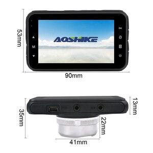 Image 2 - AOSHIKE 3 InchTouch HD 1080P samochodowy rejestrator do lusterka wstecznego 720P pojedynczy rekord wyświetlacz samochodowy DVR kamera samochodowa TFT LCD