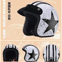 New Motorcycle Helmet Motorbike Retro Moto Helmet Riding Cruiser Chopper Scooter 3/4 Open Face Helmet with Bubble Visor BYE