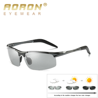 902710879d AORON 2019 Photochromic Sunglasses Mens Polarized Discoloration Goggle Male  Aluminum Magnesium Anti Glare Brand Fashion Glasses