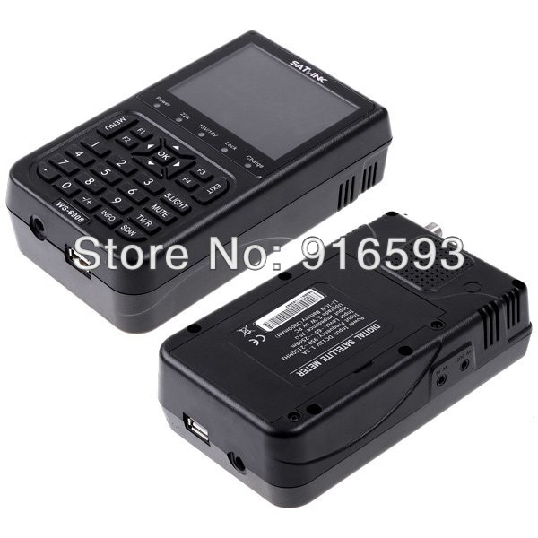 Genuine SATLINK WS-6908 DVB-S FTA Digital Signal Satellite Meter Satellite Finder 3.5 LCD Satellite TV Receiver Supports QPSK satlink ws 6979se dvb s2 dvb t2 mpeg4 hd combo spectrum satellite meter finder satlink ws6979se meter pk ws 6979