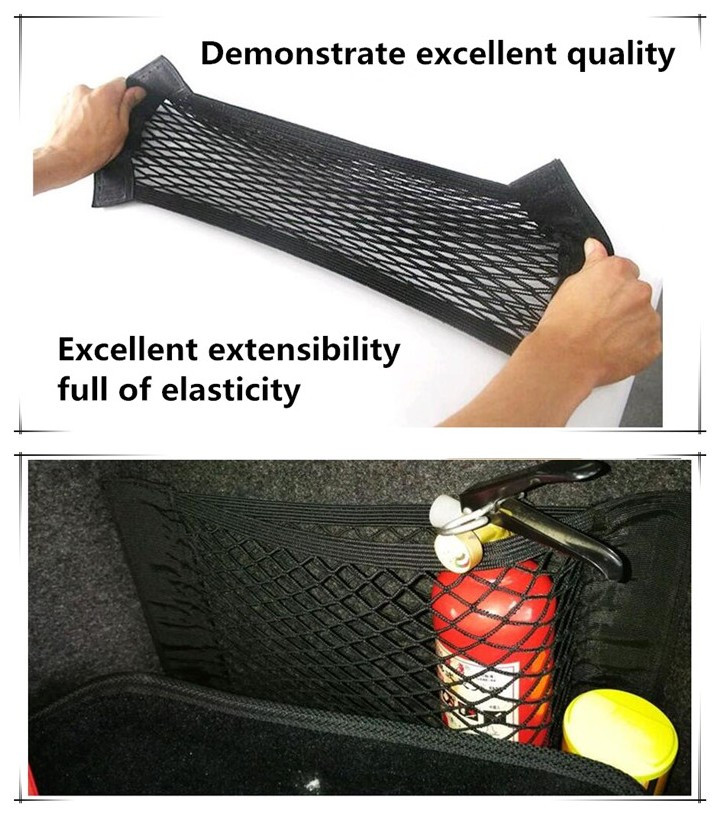 Automobiles & Motorcycles Exterior Accessories New Car Trunk Storage Mesh Bag Car Magic Tape Sticking For Chevrolet Cruze Trax Aveo Lova Sail Epica Captiva Malibu Volt Camaro With Traditional Methods