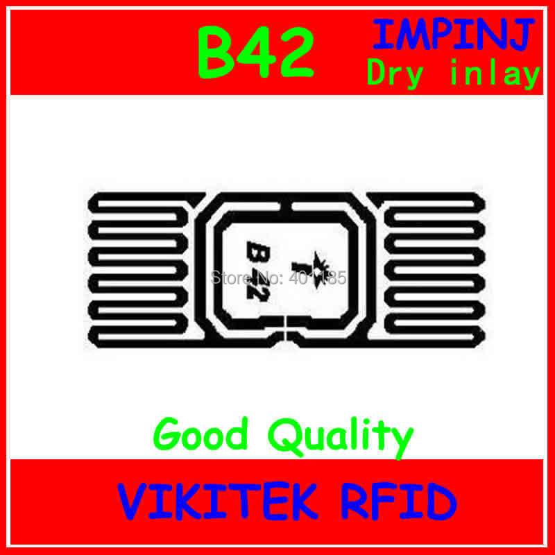 Impinj B42 UHF RFID Dry Inlay 860-960MHZ Monza4 915M EPC C1G2 ISO18000-6C Can Be Used To RFID Tag And Label