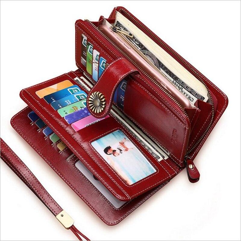 Women Lady Leather Clutch Wallet Long PU Card Holder Purse Handbag Bag Rose HS