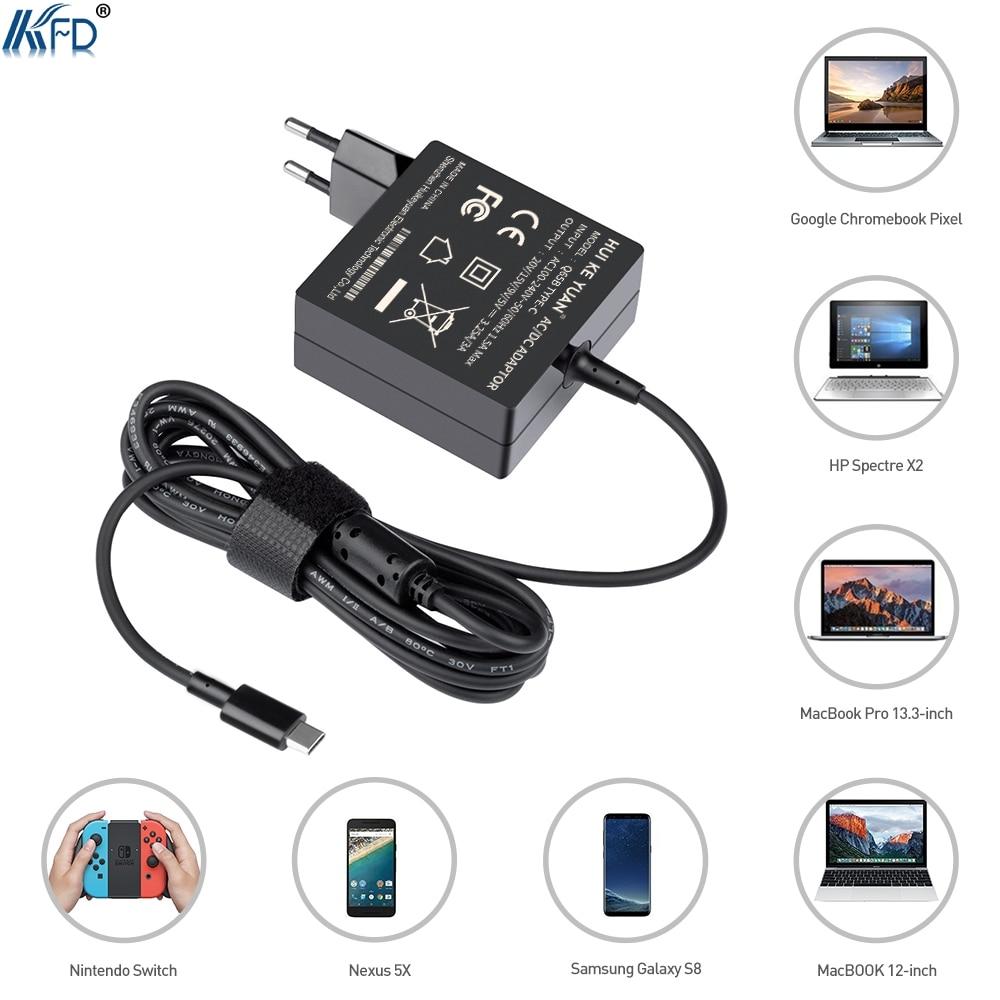 KFD 5-20.3 В 65 Вт USB c Зарядное устройство настенное крепление для Xiaomi Air 132017th ультра pixel 2 HP spectre 13 P51s, t470, T470s, T570 Nintendo ...