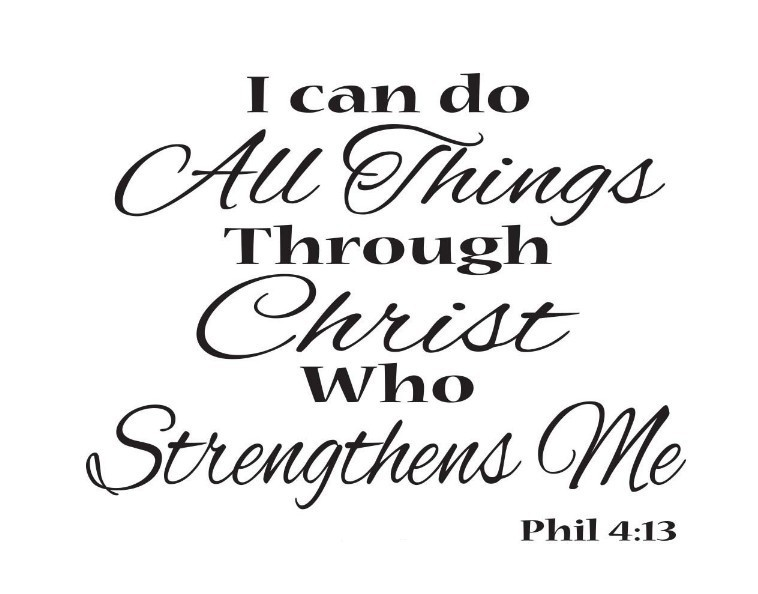 I Can Do All Things Through Christ Who Strengthens Me Wall Stickers Say Quote Word Lettering Vinyl Decal Home Decor Words In From