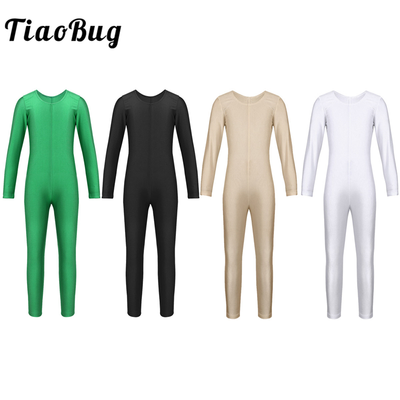 TiaoBug Children Ballet Dance Jumpsuit Girls Gymnastics Leotard Unitard Sports Bodysuit Professional Ballerina Kids Dance Wear