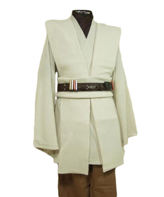 Free Shipping Custom Made Obi-Wan Kenobi Jedi Tunic Star Wars Cosplay Costume XS-XXXL Available