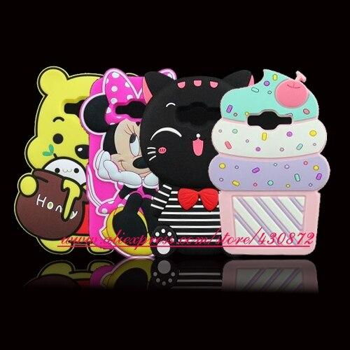 Cute 3D Silicon Lucky Cat Cupcake Unicorn Cartoon Soft Phone Skin Cover Case for Samsung Galaxy
