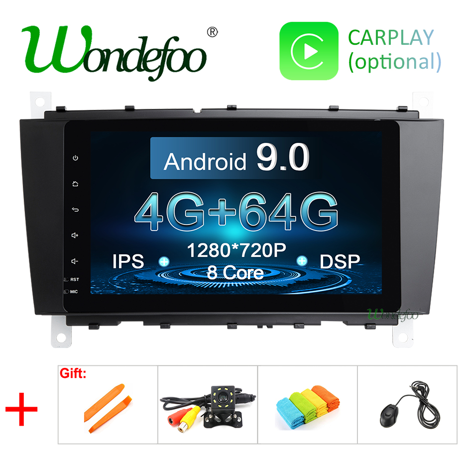 DSP Android 9 0 IPS 64G 2 DIN Car GPS For Mercedes Benz C Class W203