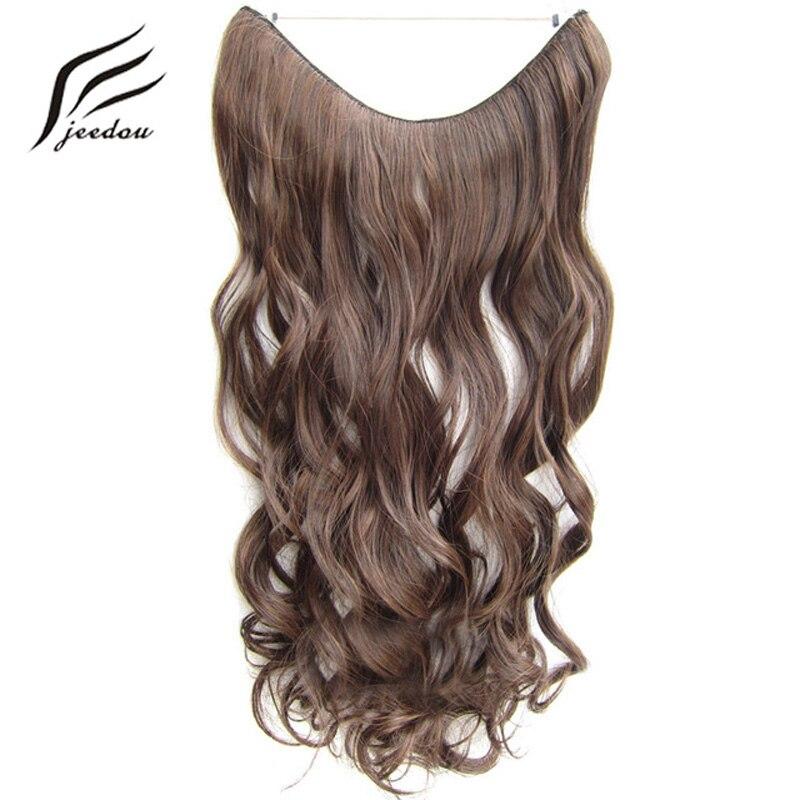 """Jeedou ligne synthétique Flip Extension de cheveux 100g 24 """"60 cm noir gris Mix couleur une pièce cheveux naturels ondulés pratique postiches"""