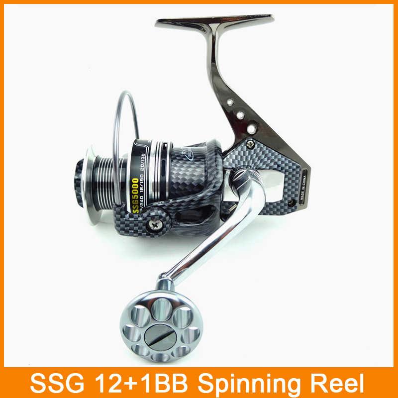 Nieuwe SsgTop quanlity Spinning Visserij-reel Karper Ijs Vistuig 5.5: 1 4.7: 1 Real 13BB casting pole rock wiel