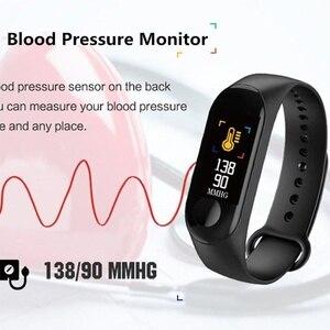 Image 3 - Astuto Della Vigilanza M3Plus Impermeabile Intelligente Del Braccialetto di Sport Del Telefono Bluetooth Monitor di Frequenza Cardiaca Fitness Intelligente Wristband Per Android IOS