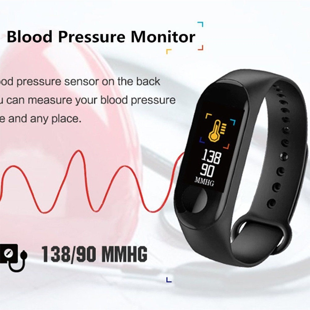Image 3 - Smart Watch M3Plus Waterproof Smart Sports Bracelet Phone Bluetooth Heart Rate Monitor Fitness Smart Wristband For Android IOS-in Smart Wristbands from Consumer Electronics