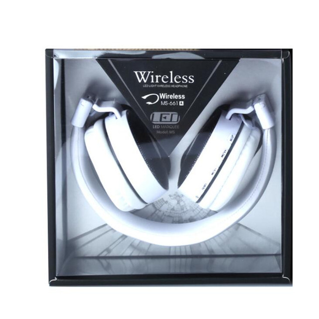 SMILYOU zestaw słuchawkowy Bluetooth świecące słuchawki LED duże słuchawki bezprzewodowe słuchawki Bluetooth z mikrofonem FM TF dla iPhone wszystkie telefony