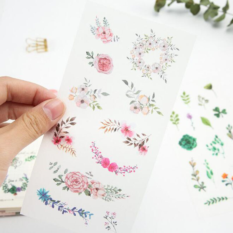 6pc/ Package   New 3d Midsummer Dress Student Stationery Transparent Stickers Diy Outdoor Notebook Decorative Sticker Scrapbook