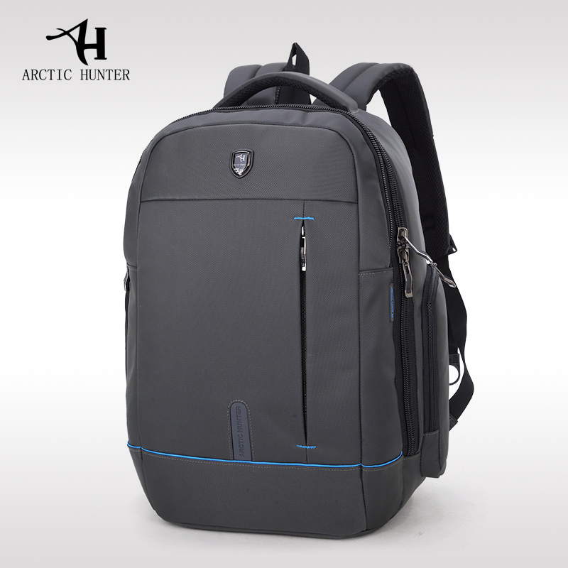 ARCTIC HUNTER Casual Men Travel Laptop Bag Waterproof School Backpack Bag For College Simple Design Men Casual Male New Backpack arctic hunter 15 6 laptop business backpack men casual travel bag nylon waterproof backpack school bag women notebook male gift