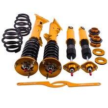 4PCS Suspensions Coilover Front Rear Top mount Spring Adjustable Shock Absorber Strut for BMW E36 316 318 320 328