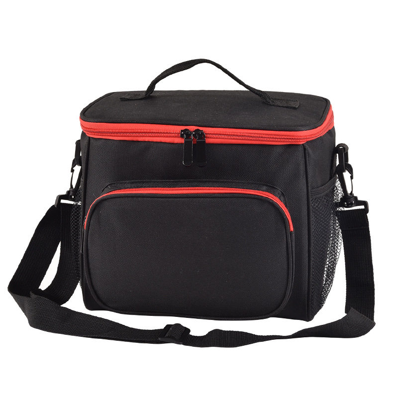 10l Schwarz Kühltasche Wasserdichte Oxford Isolierung Eis Pack Picknick Kühlschrank Tasche Für Obst Trinken