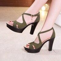 Sexy High Heels Sandals Ladies Shoes Summer 2019 Block Heel Platform Gladiator Sandals Women Party Sandals Plus Size 32 43