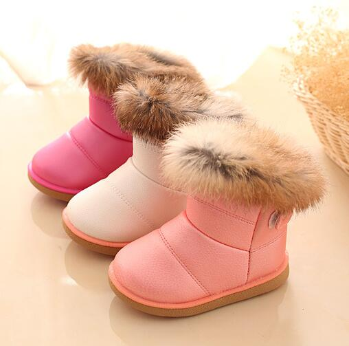 Baby Girl Warm Cotton Boots Shoes Toddler Infant Soft Sole Snow Booties 1-6Years