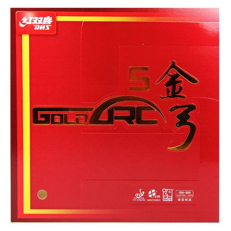 DHS GoldArc 5 (GA5, Made in Deutschland) Gold Arc Tischtennis Gummi Ping Pong Schwamm GoldArc-5
