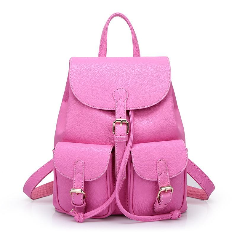 Pu Leather Women Backpack Vintage Black Women Leather Backpack  Mountaineering Cute Fashion BackP ack Novelty Larger Backpack-in Backpacks  from Luggage ... dc9a55c0edeed