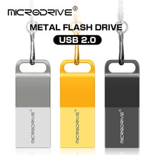 New USB Flash Drive 64GB 32GB 128GB Pen Drive 128 64 32 GB Pendrive Waterproof Metal Silver U Disk Memory Memoria USB Stick(China)